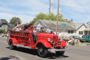 Just one of many firetrucks, representing several communities and towns